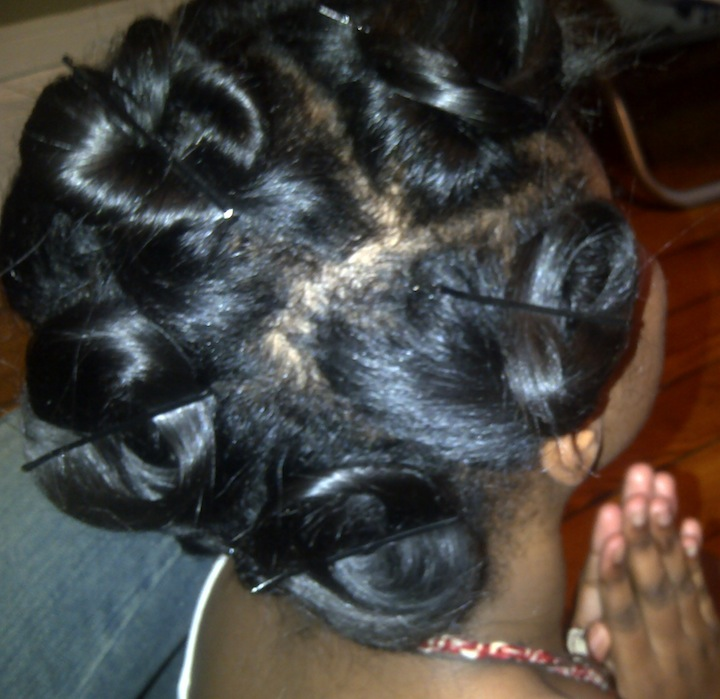 Pin Curls Black Hair For your child's hair?