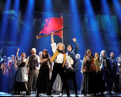"A scene from ""Les Miserables"" now at the Academy of Music in Philadelphia."