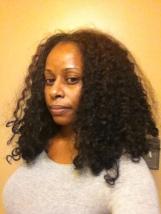Dry hair prior to detangling.