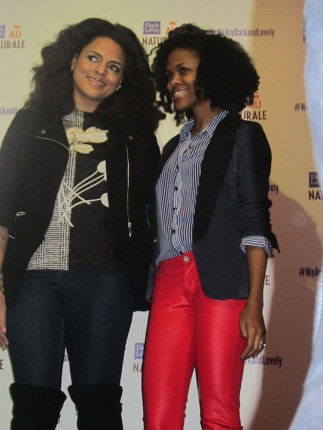 Marsha and Nikki smiling for the cameras ;).