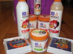 Y'all. My baby was on it. He got TWO gift bags of 6 FULL-SIZE D&L Au Natural Products (Shana got the other one).