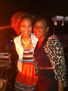 Shana with the banging DJ, Amanda Diva!