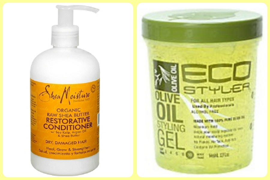 of eco styler olive oil gel to a small sections