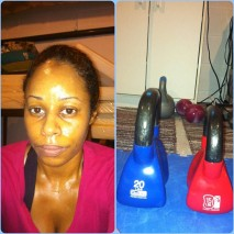 Day 23: Abs of Steel (10 min) + LB Kettlebell Full Body Blast (12 min). Since I only had time to do it once, I used the 20 lb bell for all but last exercise, the Russian Twists. I was tired and sore this day. But, got a much needed 80 min. stress relief massage! Lovely!