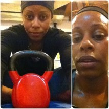 Day 27: Lauren Brooks Kettlebell Sculpt & Condition (40 min). This is a BUTT-KICKER!! It starts out all nice and sweet, then ... WHAM!!! Push-ups, lunges, squats, swings, burpies, mountain climbers and ... You know what? Do it again!! And, I did!