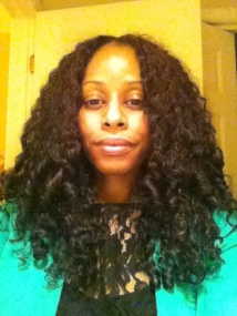 Dry braid-out with Eco Styler Olive Oil gel at the roots and coconut oil whip to length.