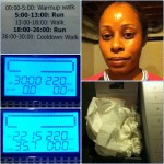 Day 38: C25K Week 5/Day 2 (5.2 mph runs). Worked out late, but Sudafed had kicked in and I pushed through w/tissues at the ready!
