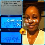 Day 40: C25K Week 5/Day 3 (5.2 mph run).