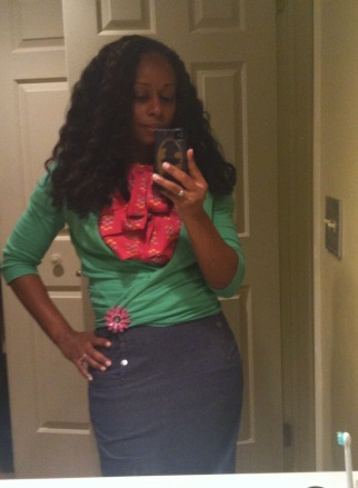 I was really feeling my outfit. LOL!!