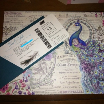 Purple and teal are my fave colors. So I LOVE the box in which these were sent to us!