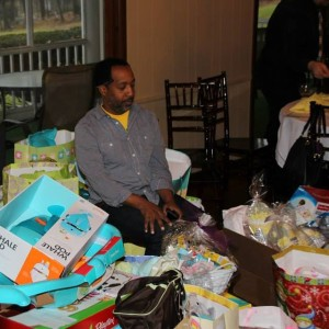 weusi overwhelmed at the baby shower