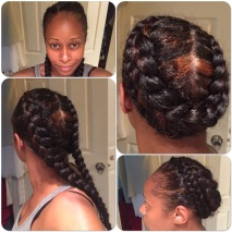 Two Cornrow Crown Braid